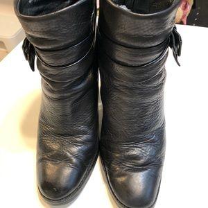 Kate Spade booties black leather